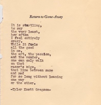 return to gone away poem